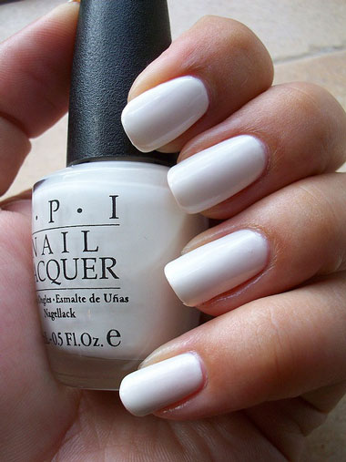 White Opi Nail Polish