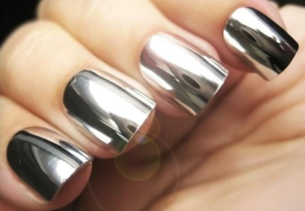 Chrome Nail Polish-Mirror, Powder, Gel, Sally Hansen, Gold, Silver ...
