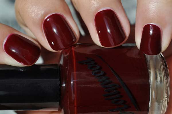 how to make dark red nail polish