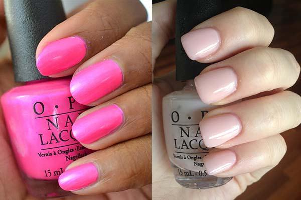 Pink Nail Polish Shades color: hot and Baby