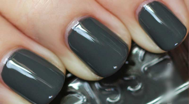 Grey Nail Polish- Matte, OPI, Dark, Light, Essie, Blue, Gunmetal & Ideas
