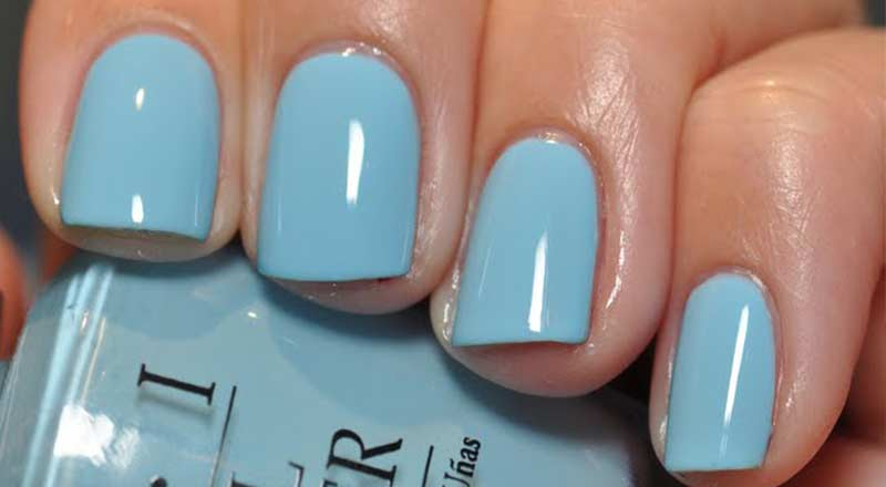 light blue nail polish | Nailshe