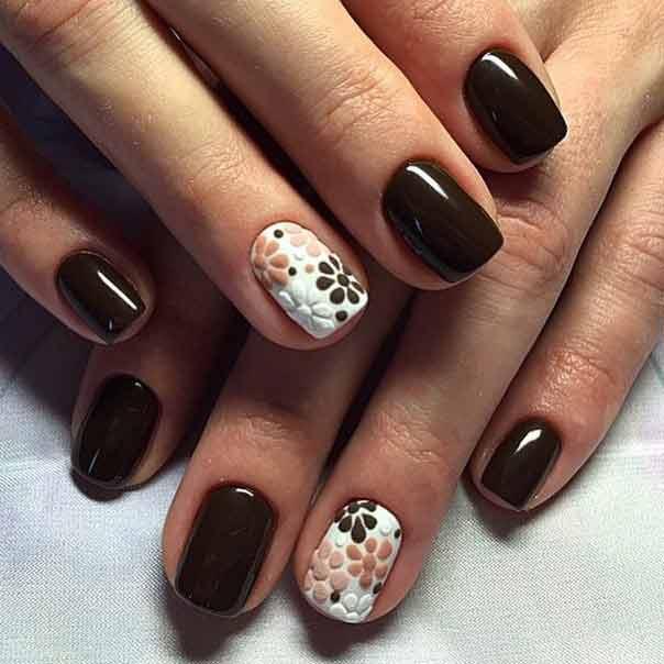 brown nail art design - Brown Nail Art Design Nailshe