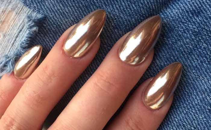 Gold Chrome Nail Polish