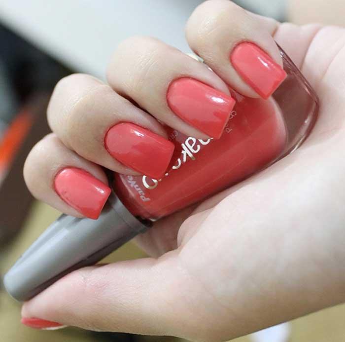 Coral Nail Polish- Neon, Pink, Bright, Light, Red, Orange