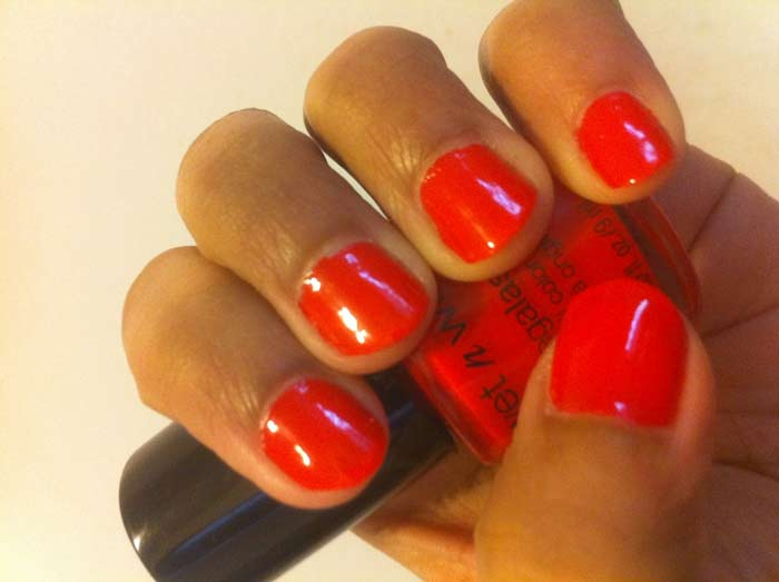 dark orange nail polish - 700×523