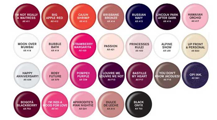 Opi Purple Color Names