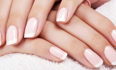 Hot to do DIY French Manicure at Home short nails without strips tape
