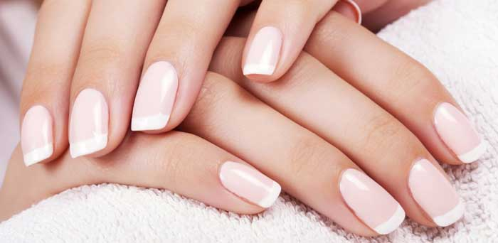 DIY French Manicure at Home, Short Nails, Without Strip, With Tape ...