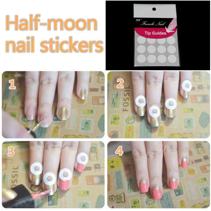 Reverse French Manicure, Designs, How-to Tutorial, Half Moon, Color ...