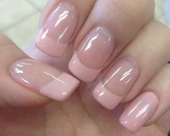 Light Pink French Manicure Nailshe