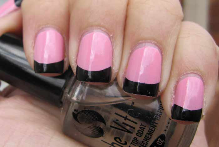 French Manicure Pink Base – Papillon Day Spa