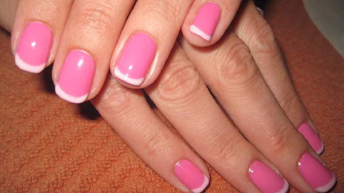 Pink french manicure white tip light pink, base best designs & Polishes